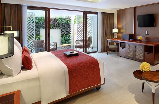 Junior Suite with garden terrace room on The Bandha Hotel & Suites Legian